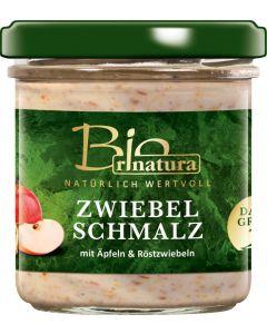 rinatura Zwiebelschmalz mit Äpfeln &  Röstzwiebeln Bio 125 g