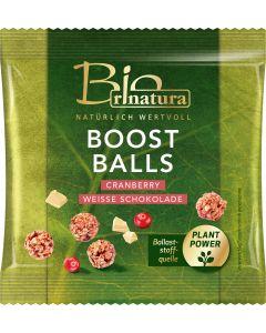 BOOST BALLS CRANBERRIE & WIEßE SCHOKOLADE BIO von RINATURA, 39 G